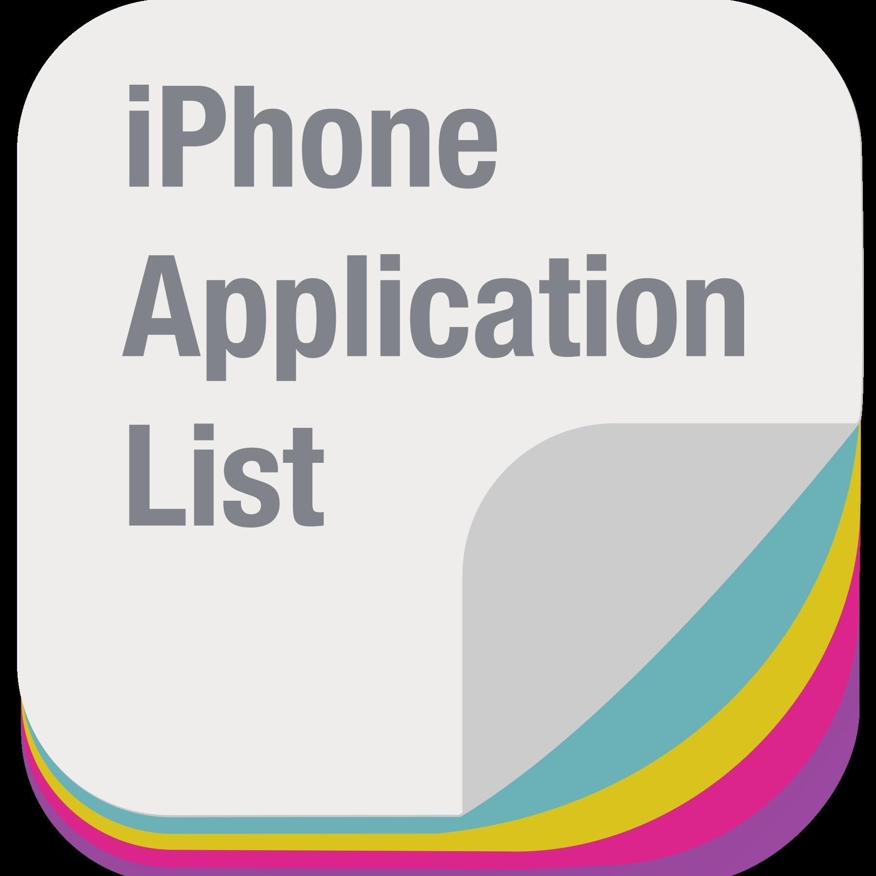 iPhone App List