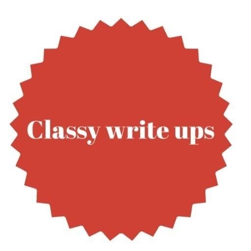 Classywriteups