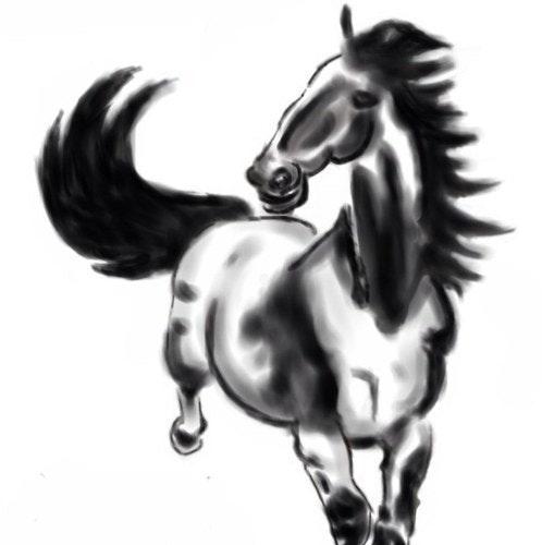 爱吃苹果的马